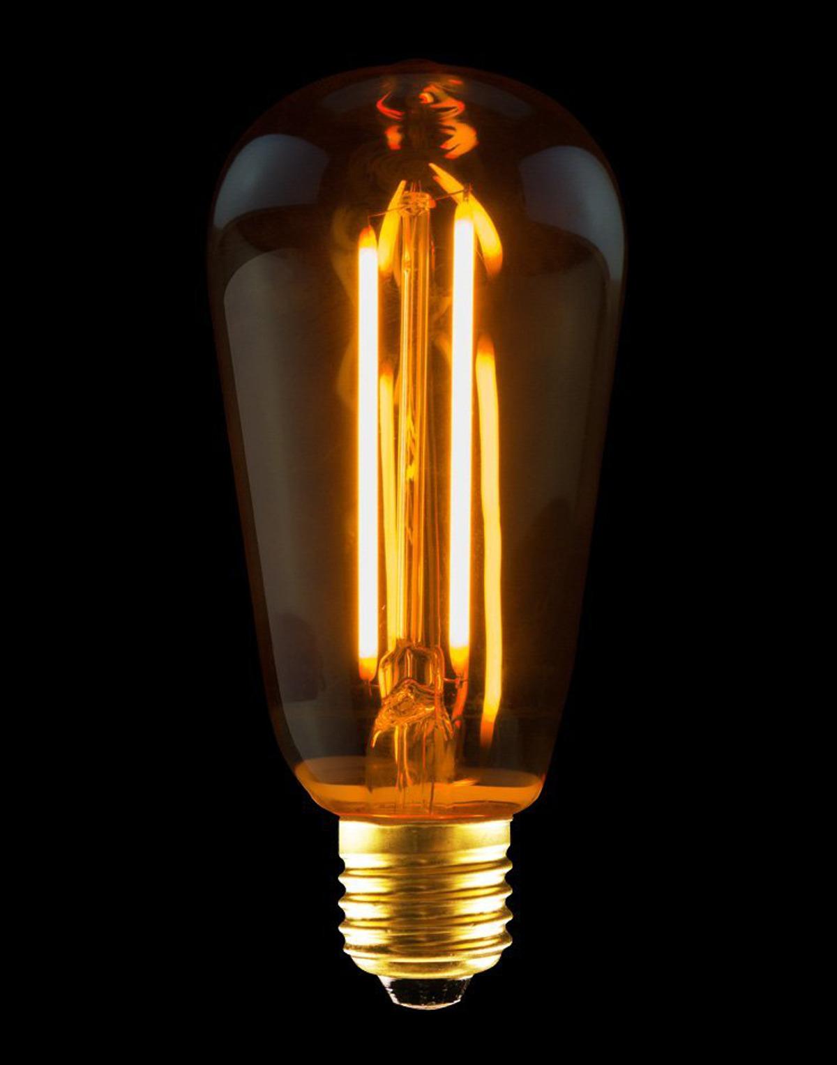 leds light filament led rustika edison gl hbirne gl hlampe licht 2 5 w e27 gold ebay. Black Bedroom Furniture Sets. Home Design Ideas