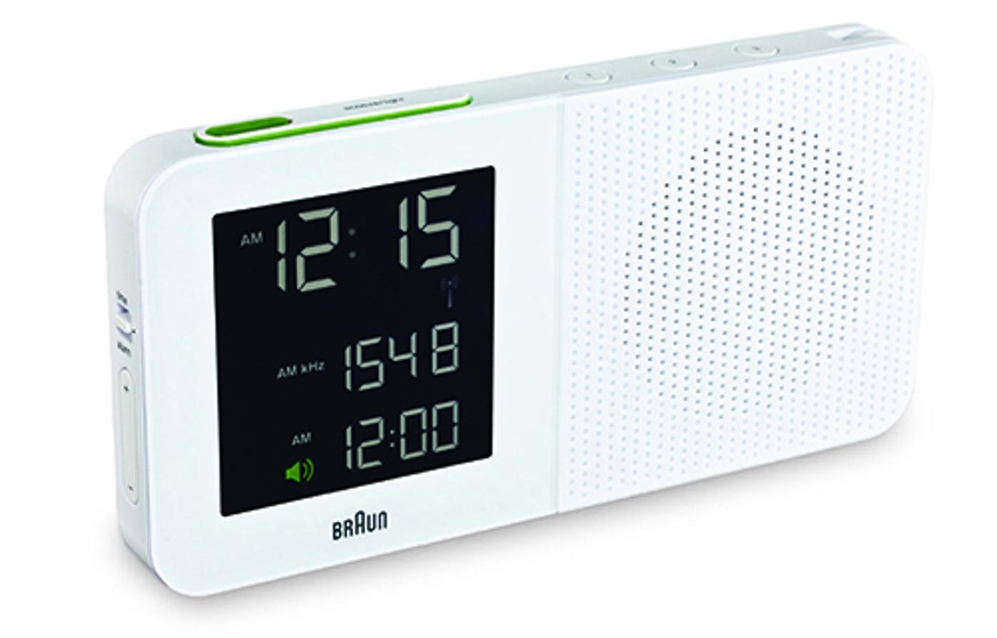 braun radiowecker weiss wecker funkwecker uhr radio. Black Bedroom Furniture Sets. Home Design Ideas