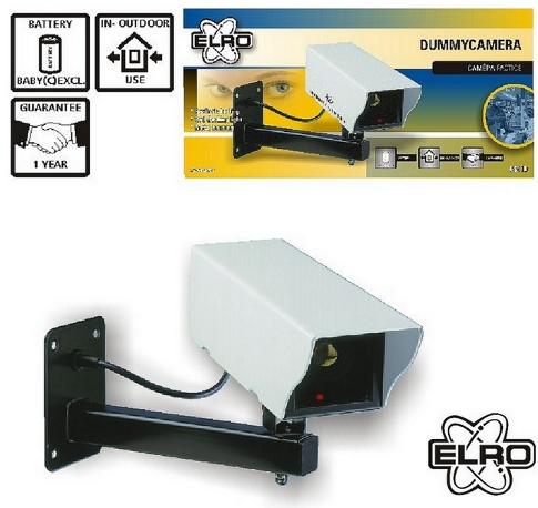 elro dummycamera kamera attrappe metall cs11d neu ovp ebay. Black Bedroom Furniture Sets. Home Design Ideas